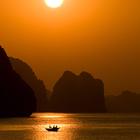 Sunrise over Halong Bay