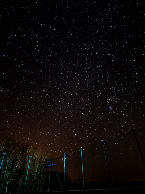 Almost pure night sky, Mangelsdorf, Germany, 2012