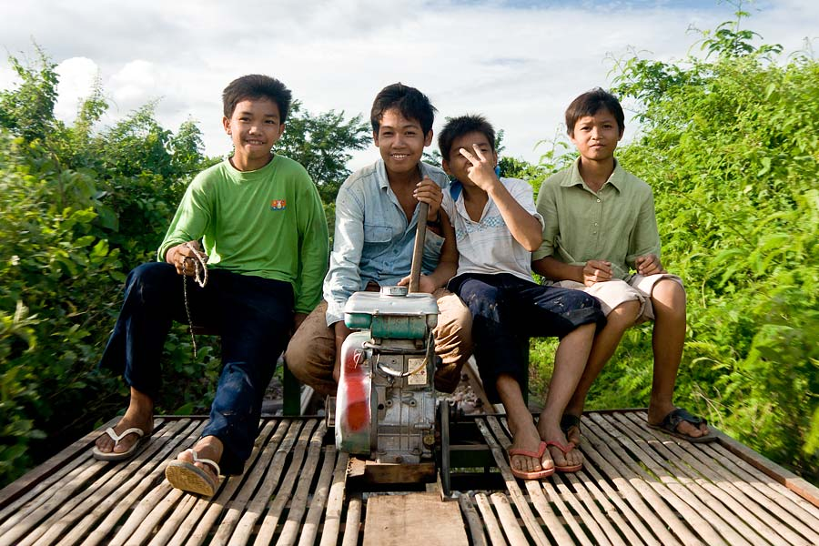 On a Bamboo Train, near Battambang, Cambodia, 2008