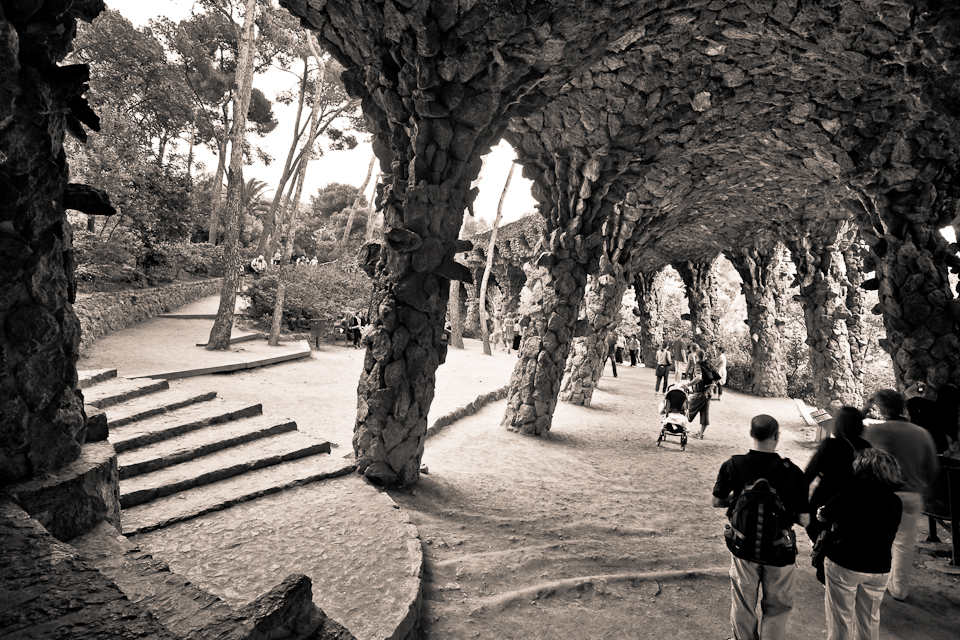 Under the Lower Viaduct, Parc Güell, Barcelona, Spain, 2009