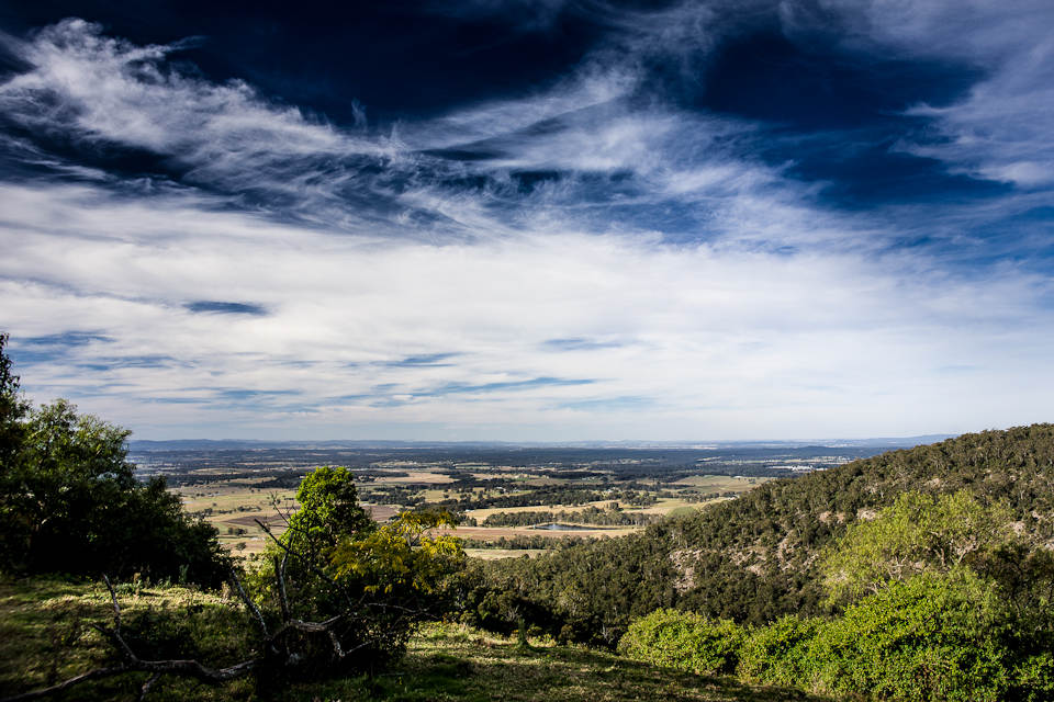 Vista over the Hunter Valley, Pokolbin Mountains, Australia, 2012