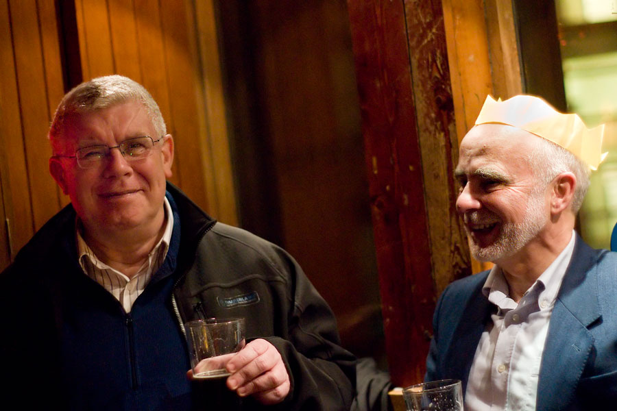 At the Hamilton Institute Christmas Party, Porterhouse, Dublin, 2008