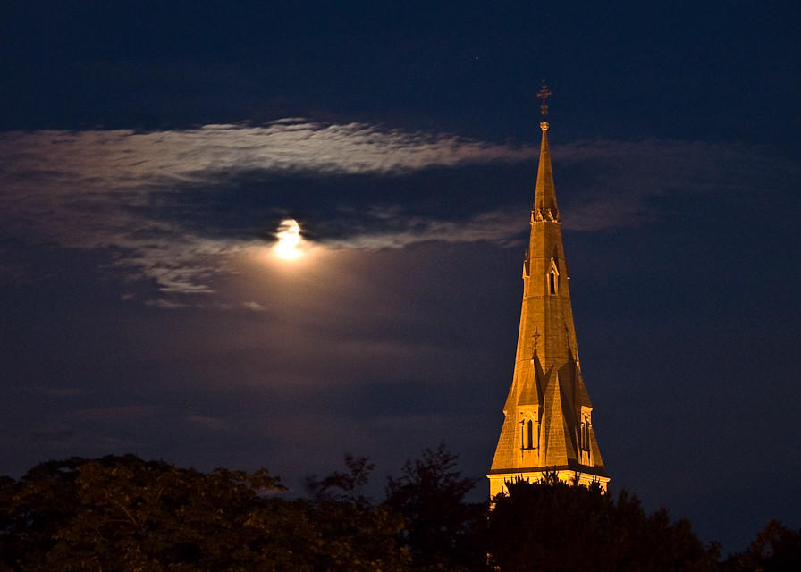 Moon and St. Patrick's College, Maynooth, Ireland, 2009