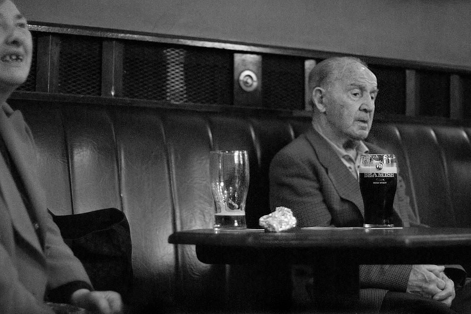 Old folks in JJ Smyth's Pub, Dublin, 2007