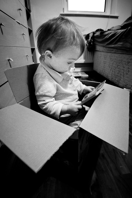 Reading in a box, Maynooth, 2011