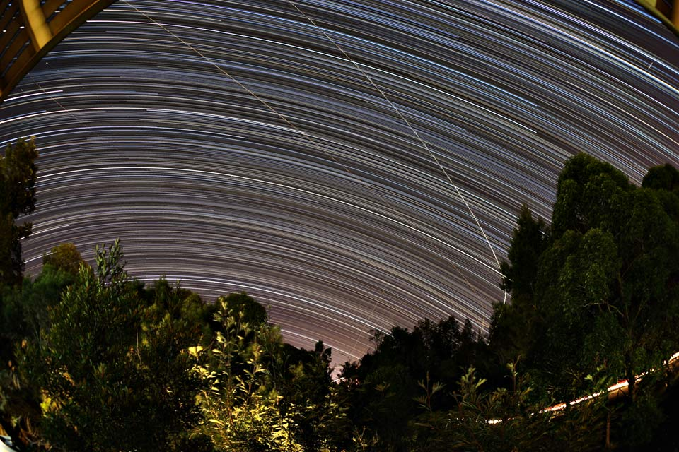 Star trails over Shortland, Australia, 2013