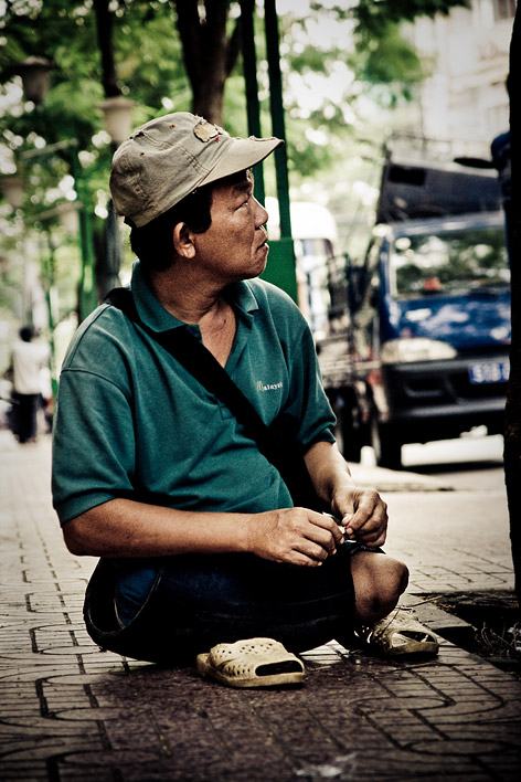 War victim, Ho Chi Minh City, Vietnam, 2008